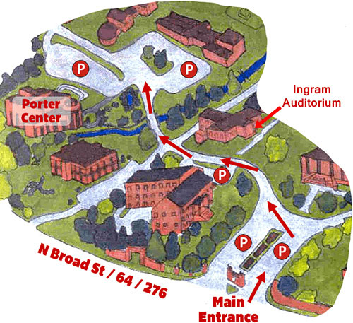 Brevard College campus map